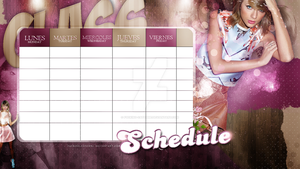 #BackToSchool{HORARIO PSD} by Fucking-CatchMe