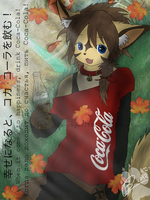 Cola: When It Comes to Happinese, Drink Coca-Cola  by Chibi-Cola-SkyWolf62