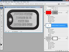 WIP - Military Dog Tag by makm