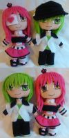 OC Exie and OC Jestryn Mini Plush ver.2 by mihijime