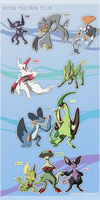 Hoenn Pokemon Team by DoruDrutt