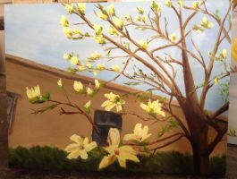 Yellow magnolia has lots of flowers! by PortableParadise