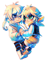 Commission: Yuki and Rei by Yufei