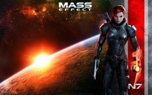 Mass Effect Female Shepard Wallpaper by energy84