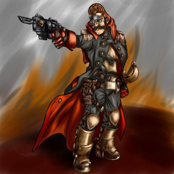 warhammer 40000 commissar by OrcBoozer
