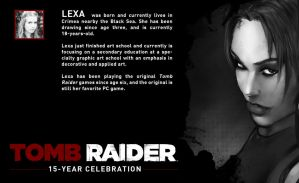 TOMB RAIDER 15 YEAR CELEBRATION bio by LeksaArt