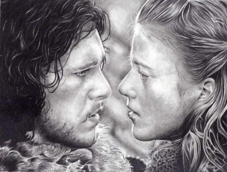 Game of Thrones: Ygritte and Jon Snow by shonechacko