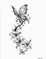 Butterfly tattoo by Jimmy-B-Deviant
