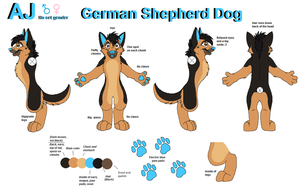REDO: Fursuit Reference by AJ-Shep