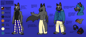 Jomo Reference Sheet (Anthro) by JomoOval