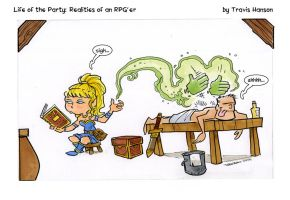 in between campaigns... rpg comic by travisJhanson