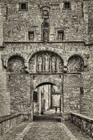the gate of the fortress by Ulliart