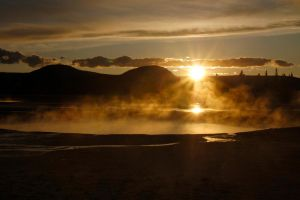 Sunset at Yellowstone by thevictor2225