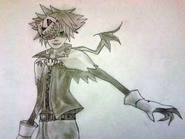Sora KH: Vampire form by DarkDogDemise98