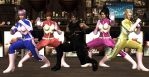 Request #88 Ryu's DOA Rangers by MichealJordy