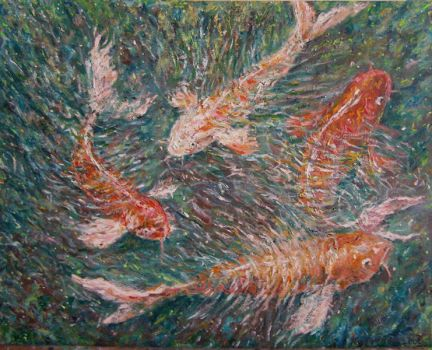 Koi fish by Landscapist
