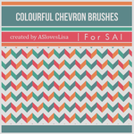 {SAI resources} Colourful Chevron Brushes by ASlovesLisa