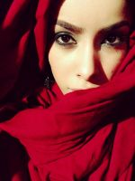 red veil hijab stock 1 by Desert-Winds
