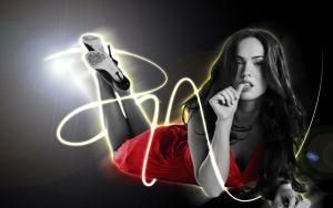 Megan Fox wallpaper 1 by cesaraquino