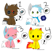 Adoptable fursonas by pink-pixie-dust