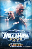 WWE WrestleMania 27 Poster by Rzr316