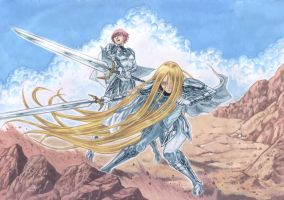 Claymore Clarice And Miata To Battle by Nick-Ian