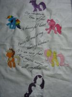 MLP FIM Pillow WIP by RiiKarii