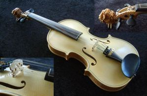 Dragonhead violin by deviantviolins