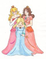 Trio de princesses by Merethide