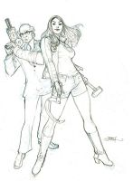 RED ONE #4 Cover Pencils by TerryDodson