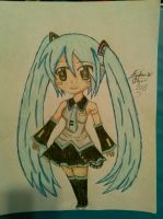 Hatsune Miku Drawing by Miku-chan9