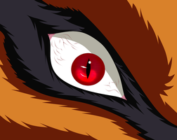 Kurama's eye by Ahrifox