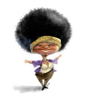 Black woman character by giovannag