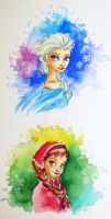 Elsa and Anna by ve-pe