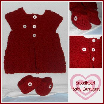 Sweetheart Baby Cardigan Set by VelvetKey