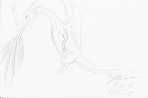 Dragon ~ Requested by Illeh-Monster12 by KburnsF