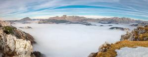 Stock 87 (above the clouds panorama) by Einheit00