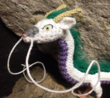 Haku Amigurumi - close up by SilverTwilight05