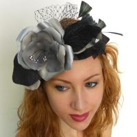 Silver Grey Floral Headband by tracyholcomb