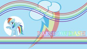 Rainbow Dash Wallpaper by IIThunderboltII