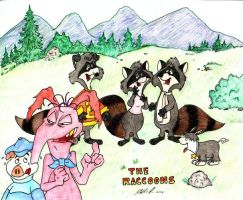 The Evergreen Racooons by CritterCounty