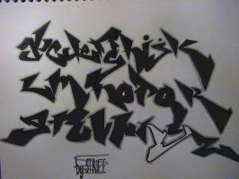Graffiti Alphabet by r3j3ct3dn0ns3ns3