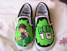 Commission - Ben 10 Child Shoes by greeniepi