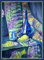 Still life, in blue by Segol-Hane