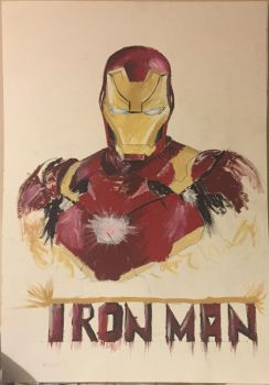 My Painted Iron Man by Fluexpr34