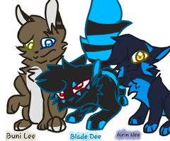 Bunny,Wolf N Kitty~ X3 by AirinNix-Extreme