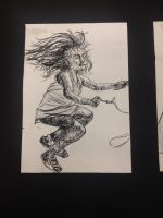 Ink Study: Skipping Rope by SupremelyEvilCookie