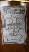 Classic Cyberman Drawing by Biggerontheinside10