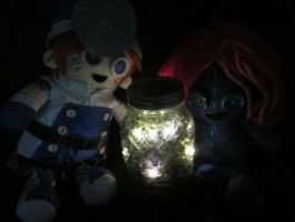 Jar full of fireflies by Rei2jewels