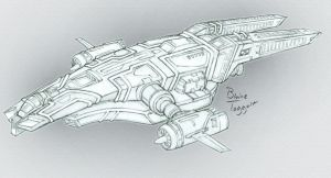 Space Freighter Design by staino